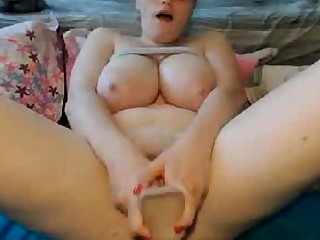 Webcams 2014 - Nerdy Chick w HUGE TITS Rides Dildo 2