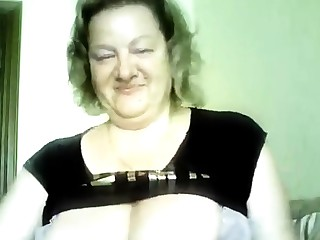 Hot 50 yo Russian full-grown Marina play on skype