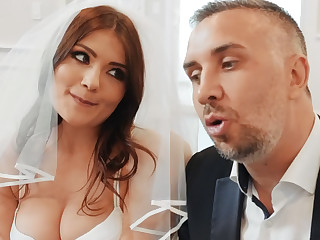 Young beauty fuck will not hear of groom's best affiliate