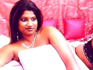 Busty Indian girl upon big dark areolas
